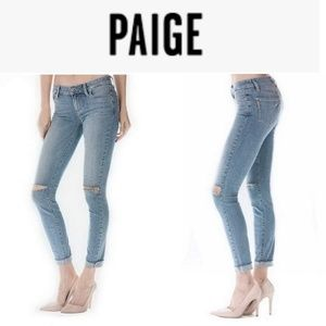 PAIGE Jeans Skinny Bella Distressed